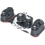 Harken HL Smallboat CB Car w/Fixed Sheaves & Cams  2734
