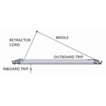 "Forespar carbon spinnaker pole RETRACTING BRIDLE OPTION ON 3"" OR LARGER UTS INBOARD"