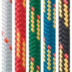 New England Ropes 8mm X 600 V-100 GREEN for running rigging on sailboats and yachts.
